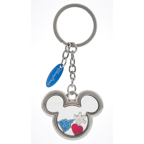 Disney Keychain Keyring Mickey Mouse Icon With Charms Inside