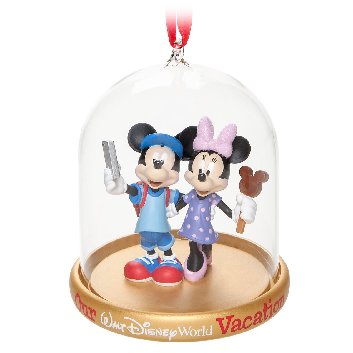 Disney Holiday Ornament Mickey Amp Minnie Vacation Dome
