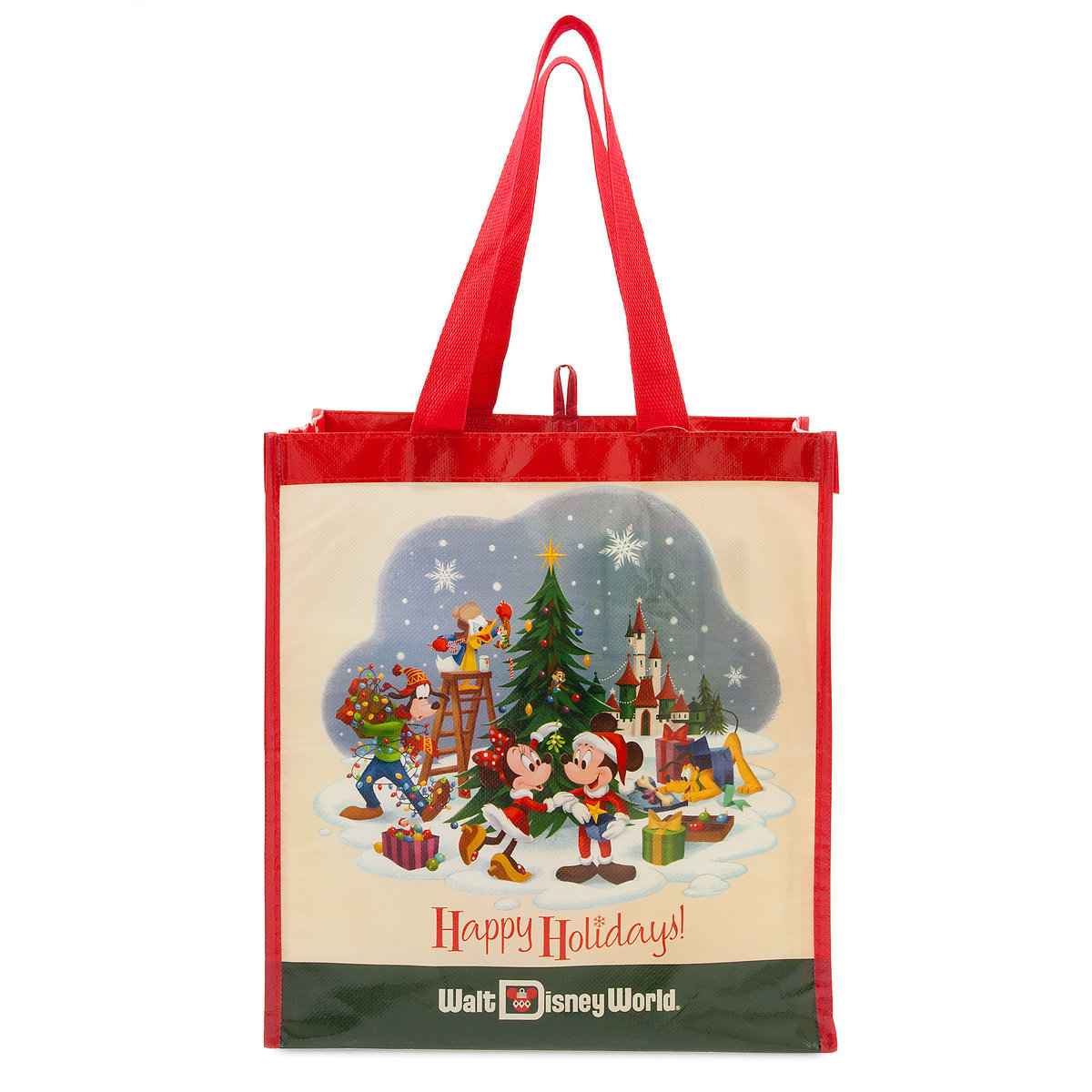 Disney Reusable Tote Bag Holiday Mickey Mouse And Friends