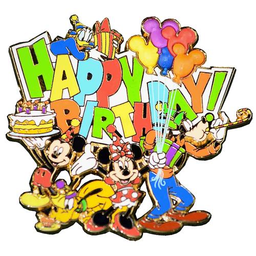 Disney Happy Birthday Pin Mickey And Friends