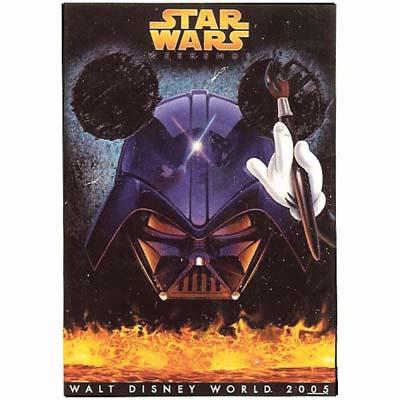 Disney Star Wars Weekends Poster 2005 Logo Mickey Darth