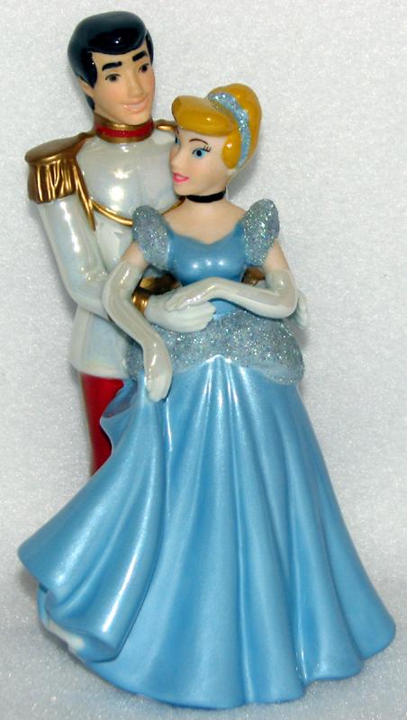 Disney Cake Topper Porcelain Figure Cinderella Prince