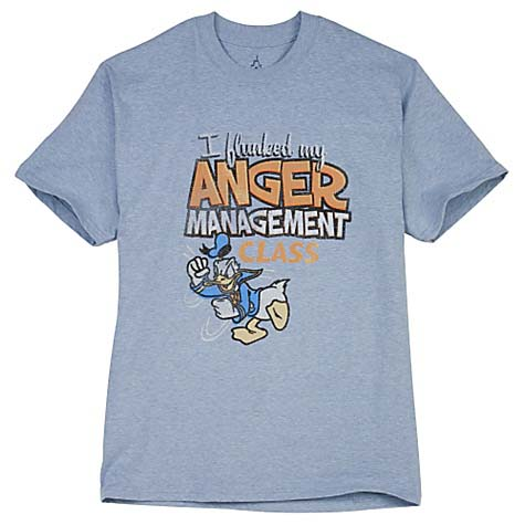 Your WDW Store Disney ADULT Shirt Donald Duck Anger