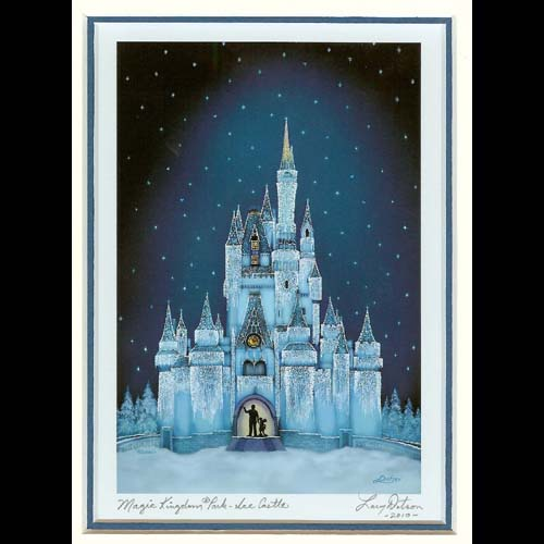 Disney Larry Dotson Print Magic Kingdom Park Ice Castle