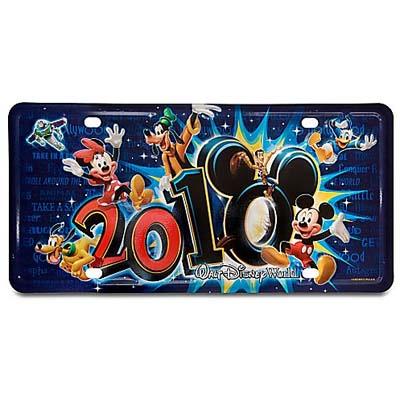 Your WDW Store Disney License Plate 2010 Walt Disney World
