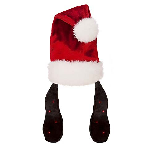 Disney Santa Christmas Holiday Hat Goofy Light Up Ears
