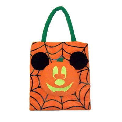 Disney Trick Or Treat Bag Halloween Mickey Pumpkin Spider Webs