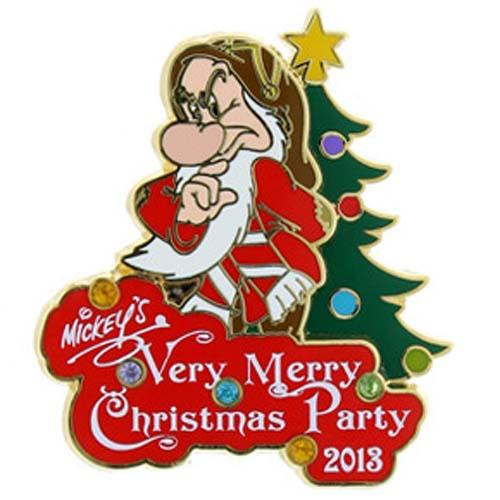 Disney Very Merry Christmas Party Pin 2013 Grumpy Annual