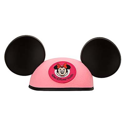 Disney Hat Ears Hat Minnie Mouse Pink YOUTH