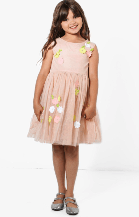 flower girl dress boohoo kids