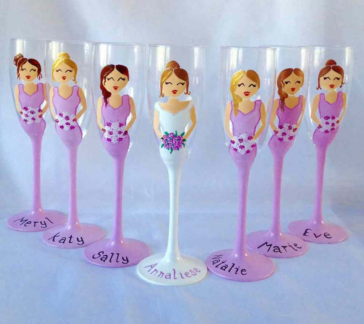 bridesmaid champagne flutes