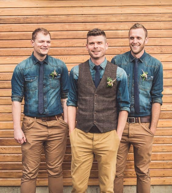 denim shirts wedding