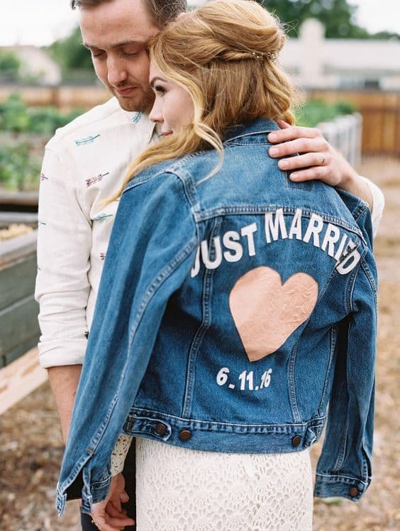 denim wedding jacket