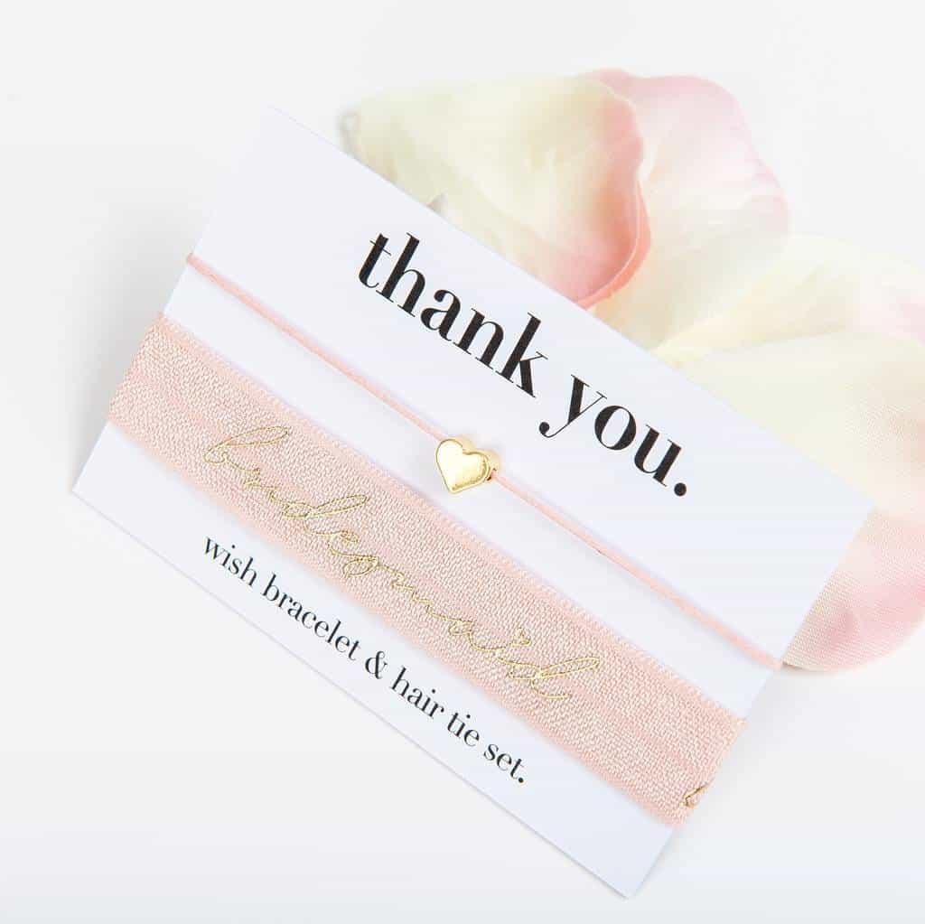 thank you bridesmaid hair tie set