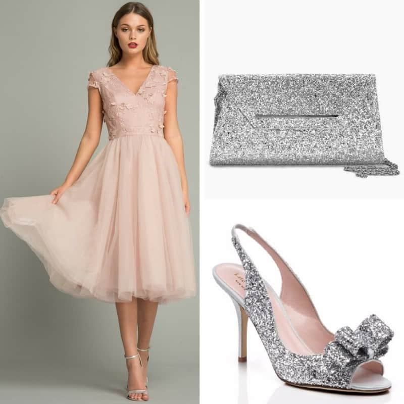 pink and silver sparkly outfit
