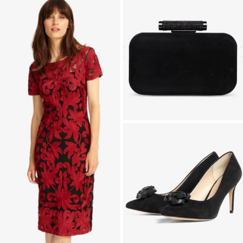 New Season red tapework wedding guest outfit