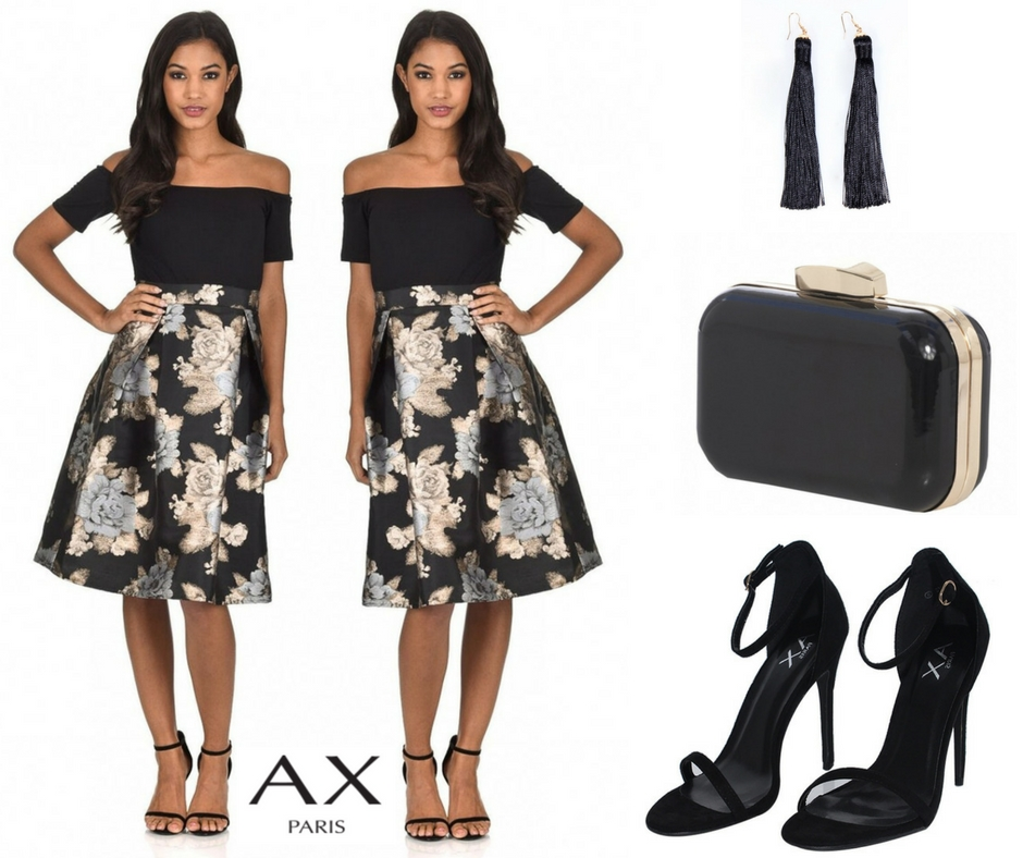 black and gold ax paris outfit