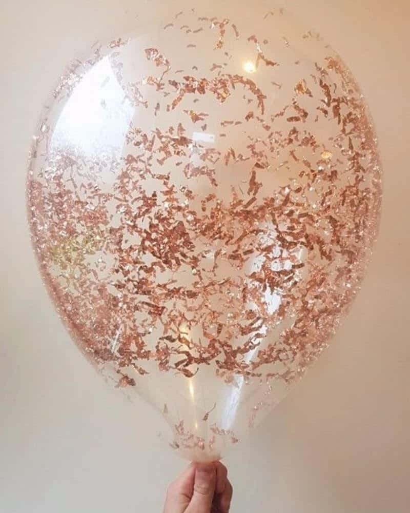 rose gold balloon