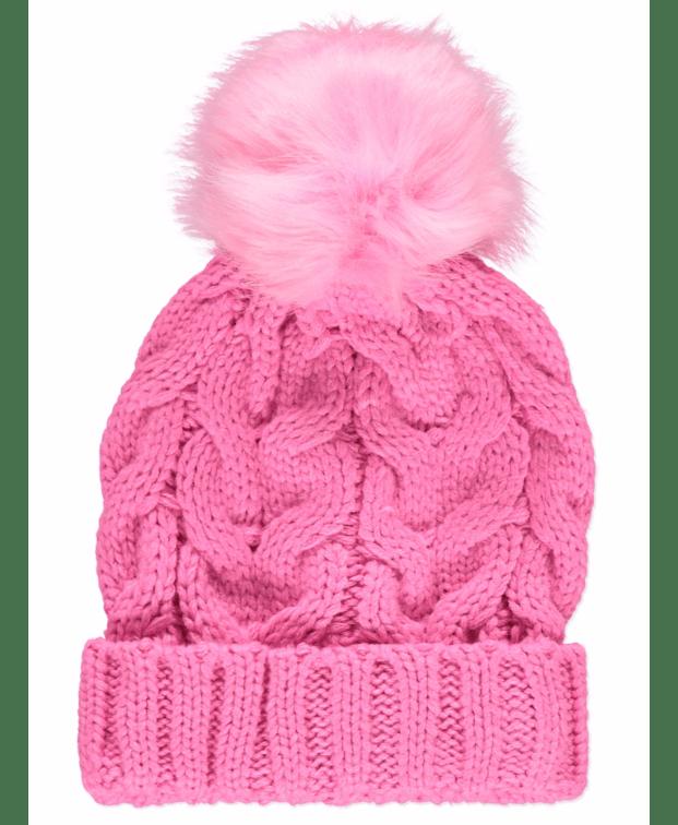 Tickled Pink Pom Pom Hat