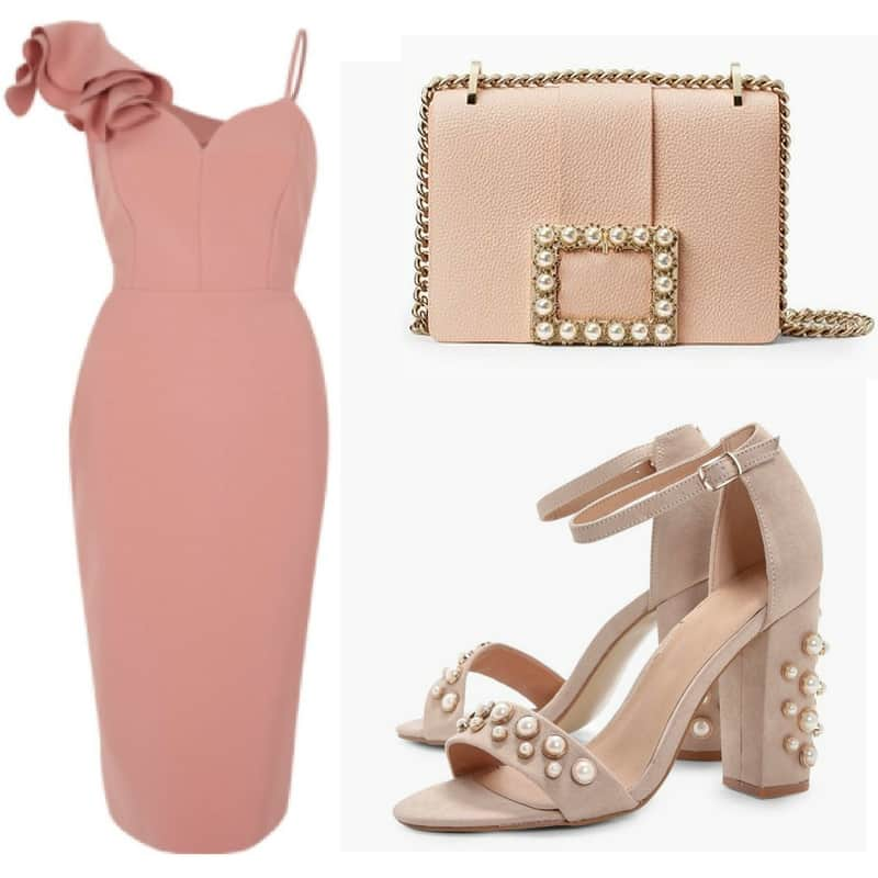 Pink and Pearls occasion outfit