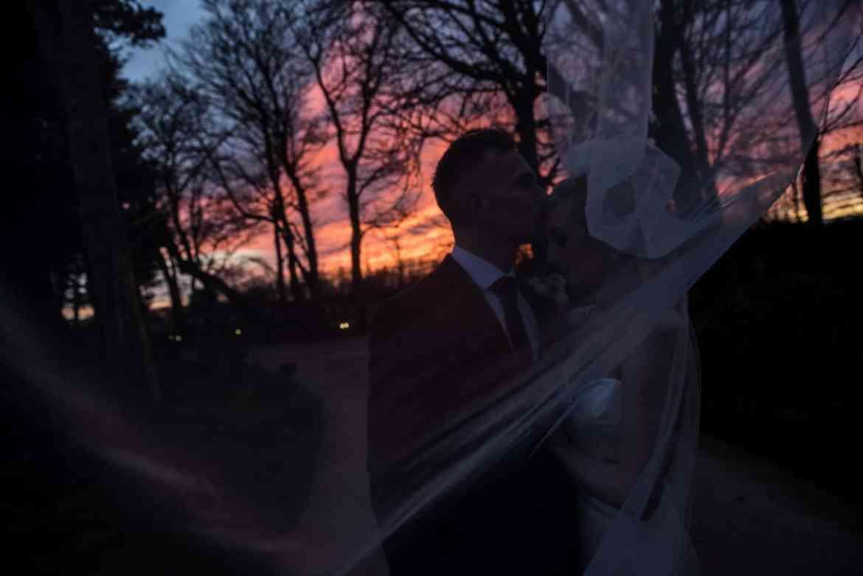 real wedding sunset