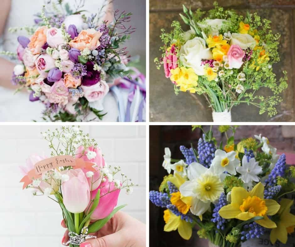 easter wedding bouquets