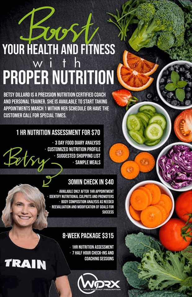 Betsy's nutrition program banner