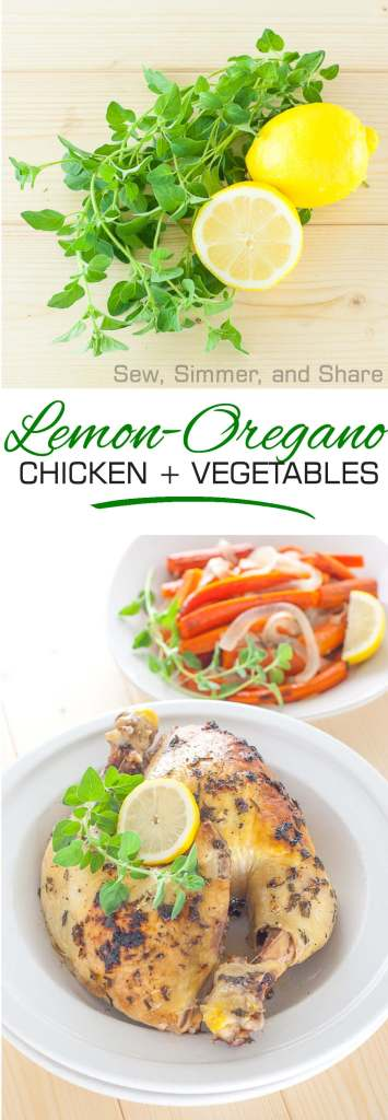 Lemon-Oregano Chicken and Vegetables | YouShouldCraft.com