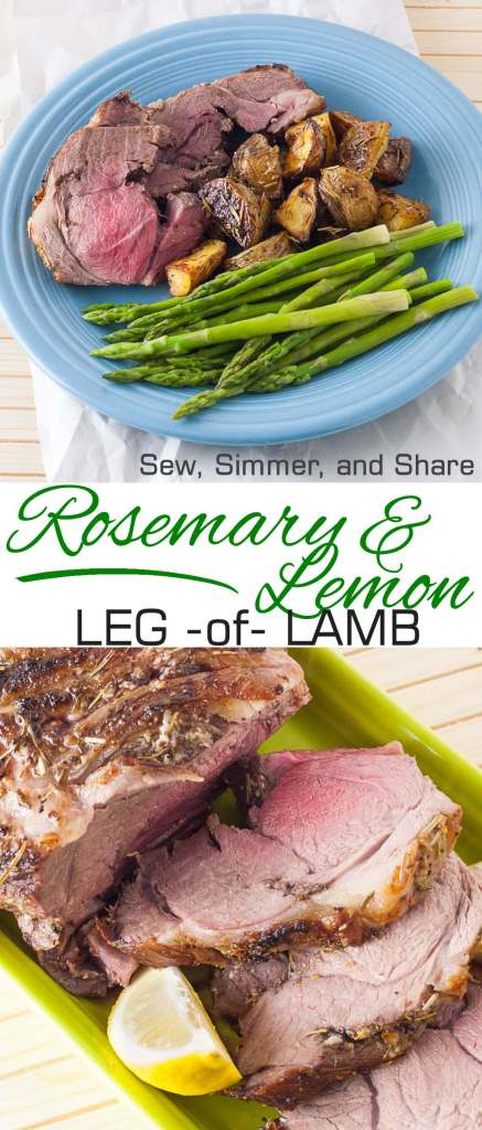 Rosemary & Lemon Leg of Lamb   YouShouldCraft.com