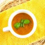 Tomato Basil Soup with Ground Beef
