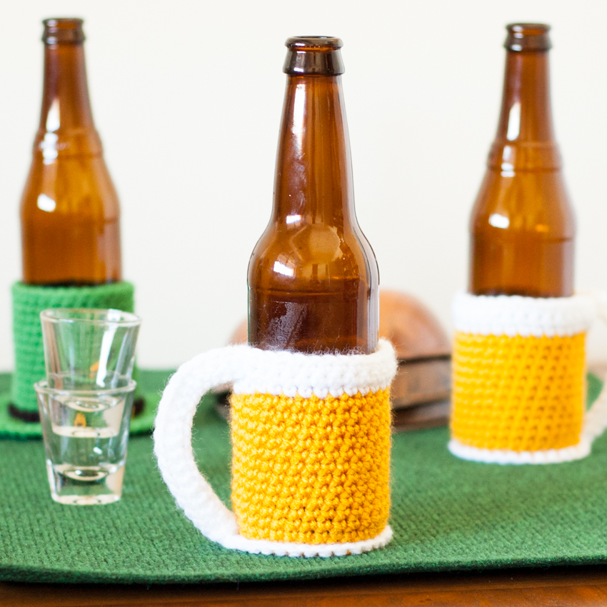 Beer Mug Bottle Cozy Free Crochet Pattern You Should Craft