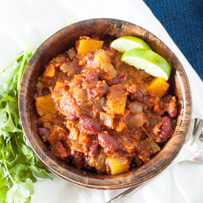 Slowcooker Butternut Squash Chili – 2 Ways