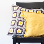 Daisy Granny Square Pillow – Free Crochet Pattern