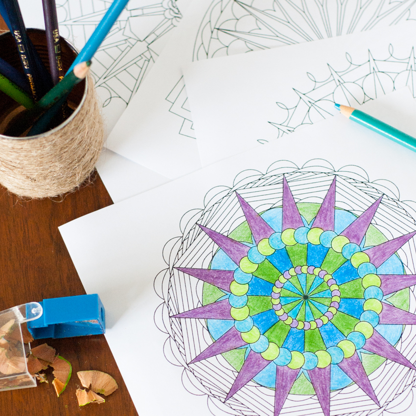 Create Your Own Mandala Adult Coloring Pages You Should Craft