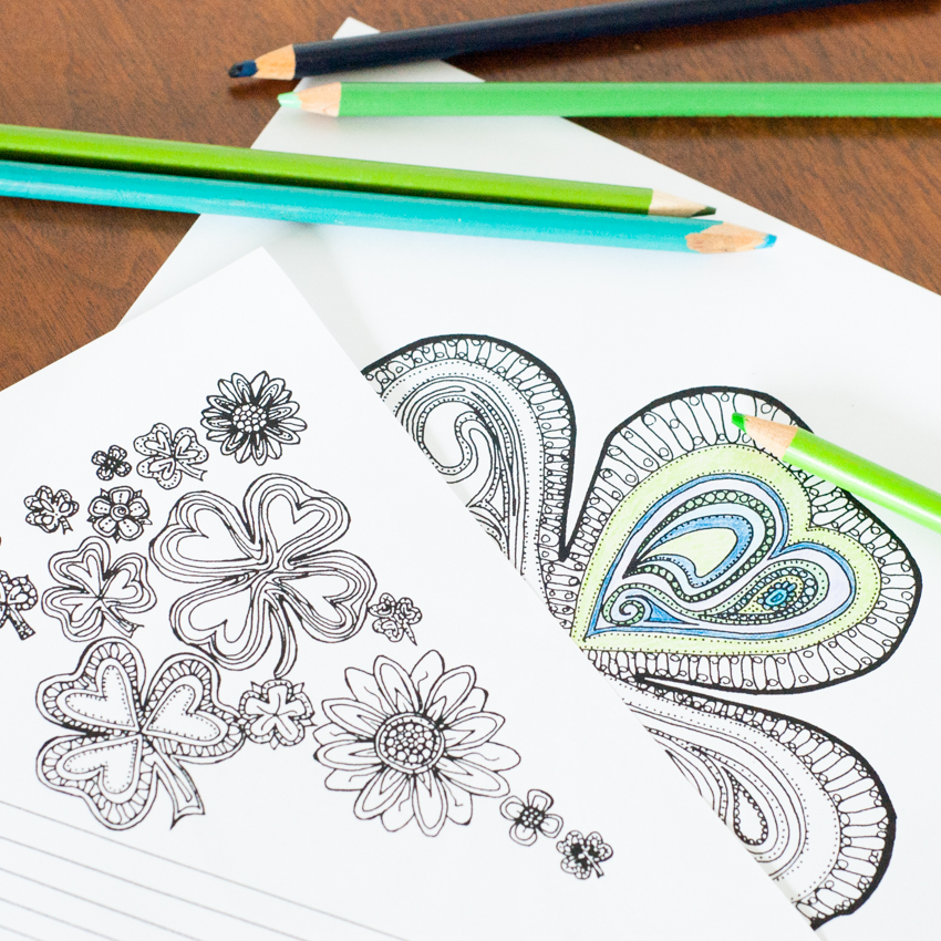 Adult Coloring Pages for St. Patrick\'s Day | You Should Craft