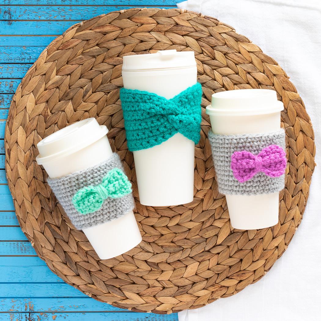 three reusable coffee cups