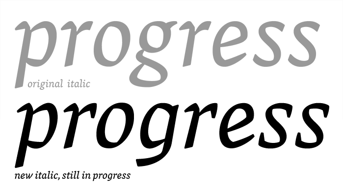 Vesper italic in progress