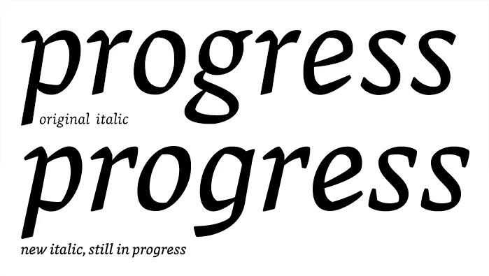Vesper italic in progress