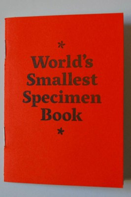 The World's Smallest Specimen Book*