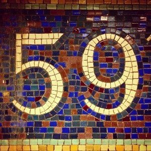 I never get tired of the mosaics in the NYC subways