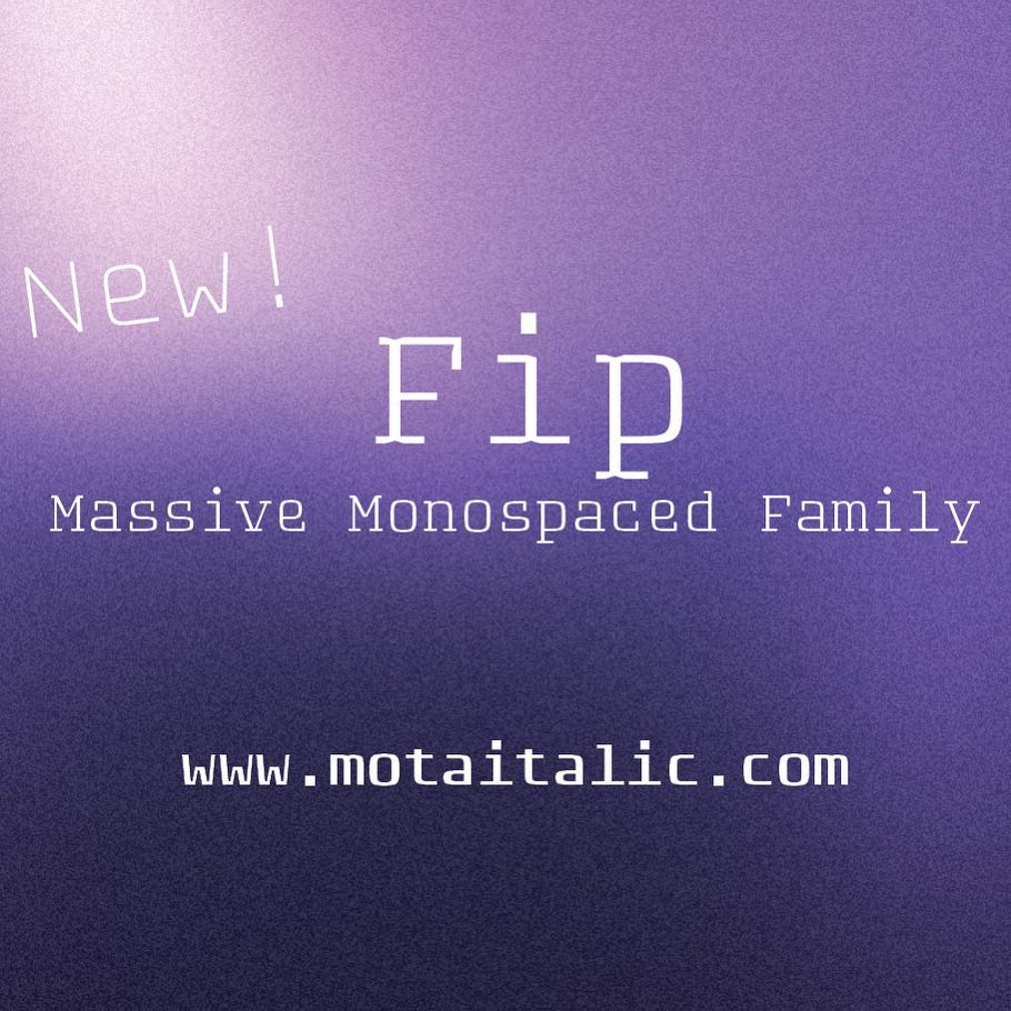 """Thrilled that our latest type family """"Fip"""" is..."""