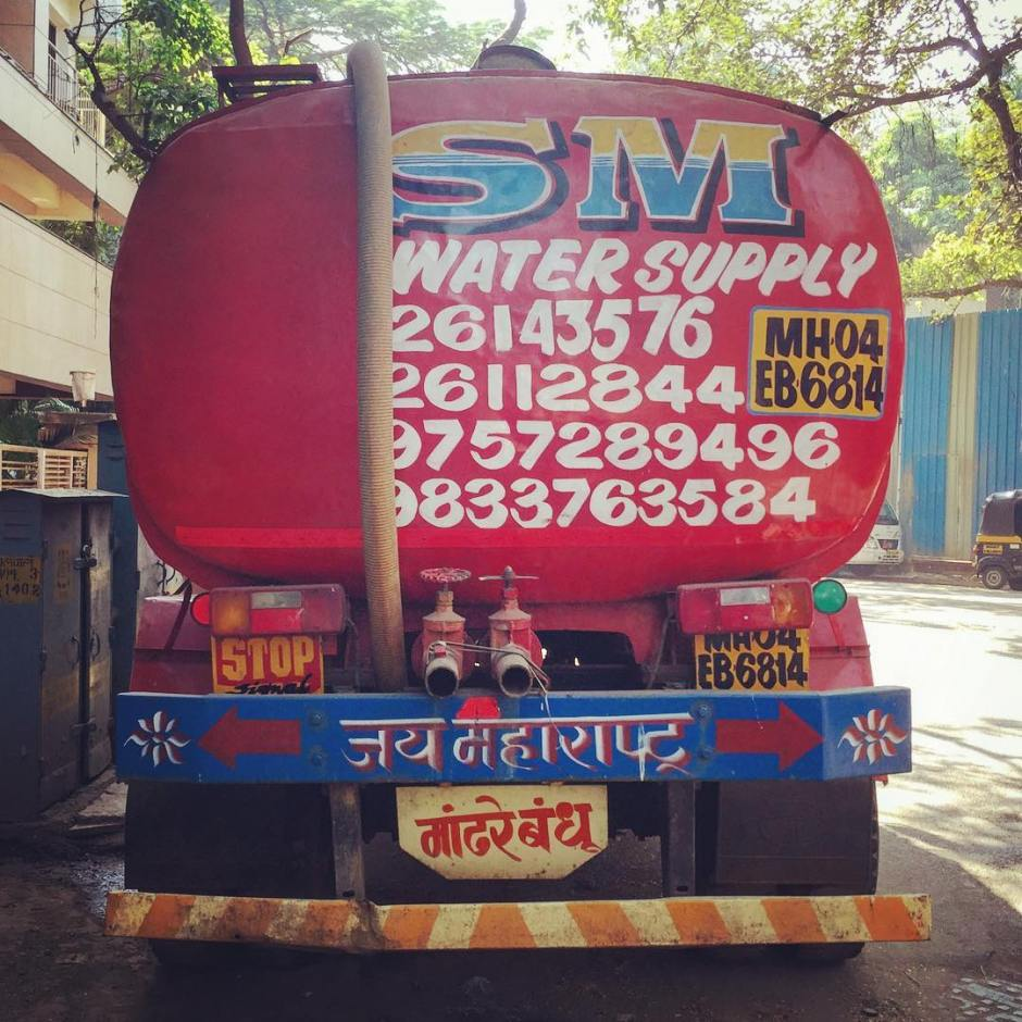 Fascinating water truck... Someone finally realized that hose...