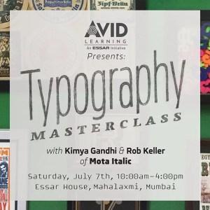Upcoming Typography Masterclass in Mumbai