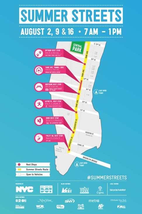 NYC Summer Streets map