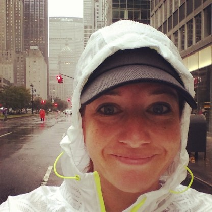 Running in NYC rain