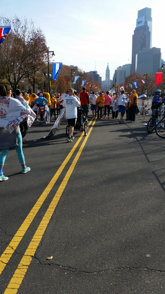Philadelphia marathon finish area