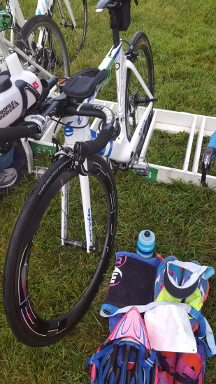 Rev3 Montclair Triathlon bike transition area