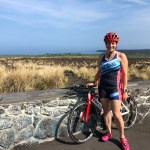 Biking on the Queen K in Kona