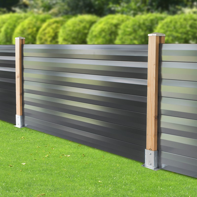 lame acier gris 7016 pour cloture 1760 mm farel yousteel