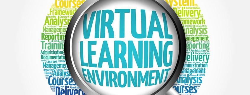 Virtual Learning Environment Word Cloud